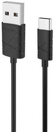 Usams U-GEE USB To USB Type-C Cable 1m Black