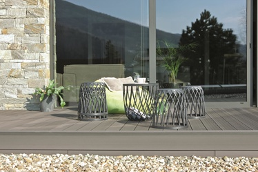 Комплект уличной мебели Prosperplast Uniqubo Multifunctional IKUBS5-405U, серый, 4 места