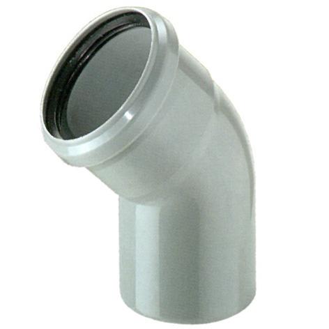 Kanalizācijas caurules 45° līkums Bees D75mm, PP