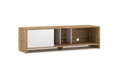 ТВ стол Vivaldi Meble Sue, белый/дубовый, 1400x400x410 мм