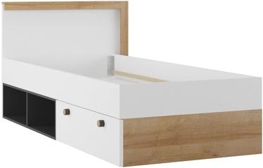 Gulta Szynaka Meble Riva 50 White/Riviera Oak/Black, 90 x 200 cm