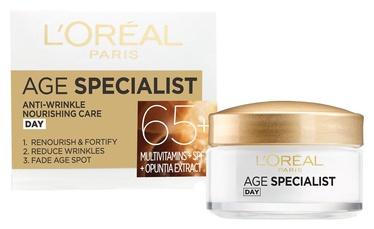 Sejas krēms L´Oreal Paris Age Specialist 65+ Anti Wrinkle Nourishing Care, 50 ml