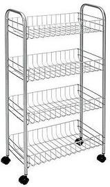 Metaltex Pisa Rolling Cart 4 Shelves 41x23x84cm