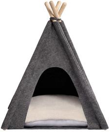 Dzīvnieku gulta Myanimaly Tipi M, balta/pelēka, 800x800 mm