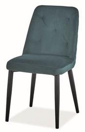 Ēdamistabas krēsls Signal Meble Duran Velvet Green