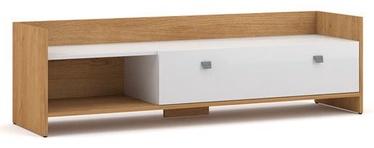 ТВ стол Vivaldi Meble Open, белый/дубовый, 1400x370x400 мм