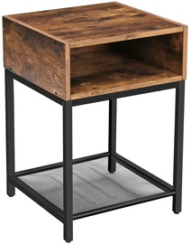 Kafijas galdiņš Songmics, brūna/melna, 400x400x580 mm