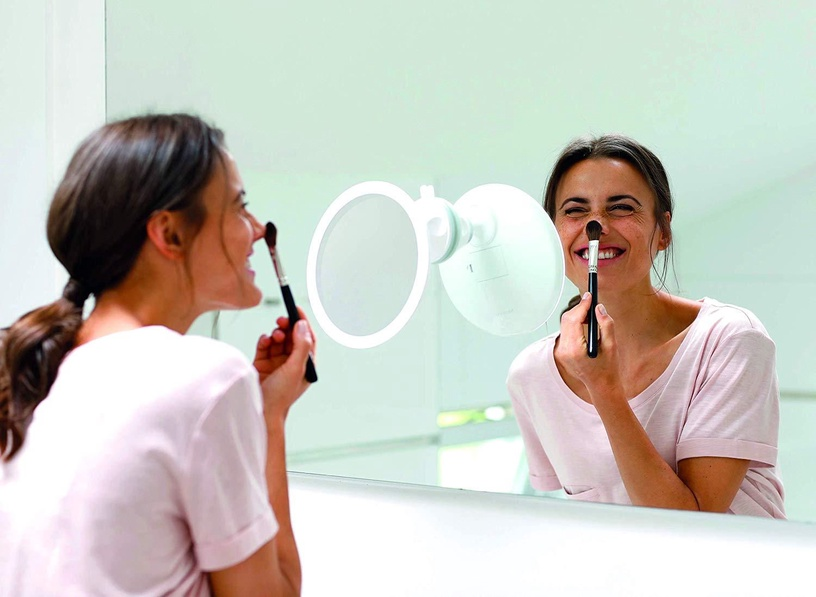 Spogulis Medisana CM 850 White, ar gaismu, līmējams, 19x19 cm