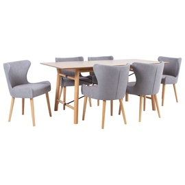 Home4you Emerald Dining Set Grey