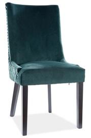 Ēdamistabas krēsls Signal Meble Modern Leon Velvet, zaļa