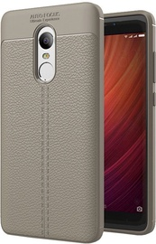 Hurtel Litchi Pattern Back Case For Xiaomi Redmi Note 4/4X Grey