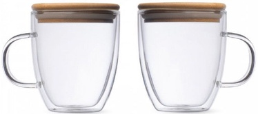 Double-Walled Glass Set With Ears L19013 350ml 2pcs