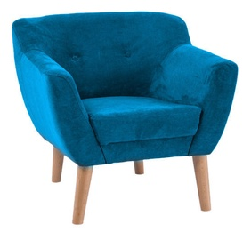 Atzveltnes krēsls Signal Meble Bergen 1 Dark Turquoise, 78x54x76 cm