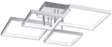 Trio Sorrento matēta alumīnija krāsas LED griestu lampa 24W, 2400lm, 3000K, trīspakāpju slēdža aptumšošanas funkcija