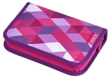 Herlitz Pencil Case 31 Pieces Pink Cubes