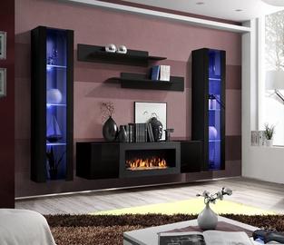 Dzīvojamās istabas mēbeļu komplekts ASM Fly M2 Black