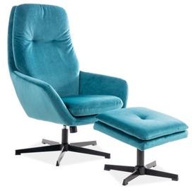 Atzveltnes krēsls Signal Meble Ford Velvet, zila, 75x82x108 cm