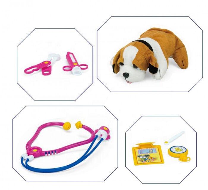 Rotaļu suņu būris ar veterinārajiem piederumiem T20070
