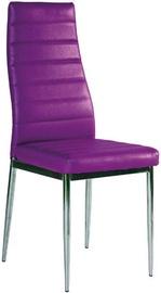 Ēdamistabas krēsls Signal Meble H261 Violet/Chrome, 1 gab.