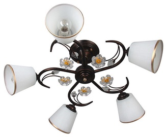 Verners Iva Ceiling Lamp 5x40W E14 White/Dark Brown
