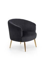 Atzveltnes krēsls Halmar Crown Black, 78x72x80 cm