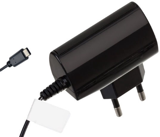 Reverse Universal USB Type-C Travel Charger 1.2m Black