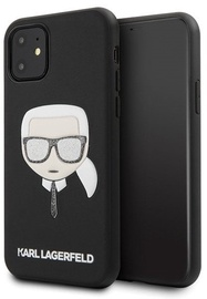 Karl Lagerfeld Iconic Embossed And Glitter Back Case For Apple iPhone 11 Black
