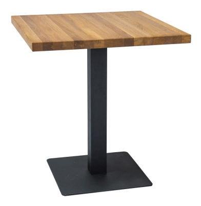 Обеденный стол Signal Meble Puro Lity Oak Black, 600x600x760 мм