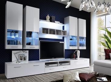 ASM Dorade Living Room Wall Unit Set White