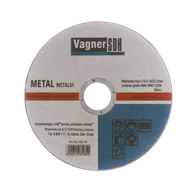 Disks metāla griešanai Vagner SDH 125x1,0x22,23mm 200.04