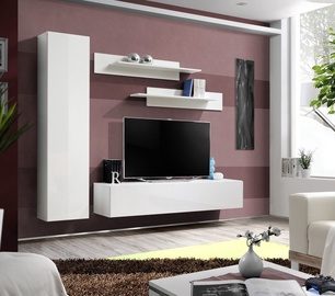 Dzīvojamās istabas mēbeļu komplekts ASM Fly G White/White Glass
