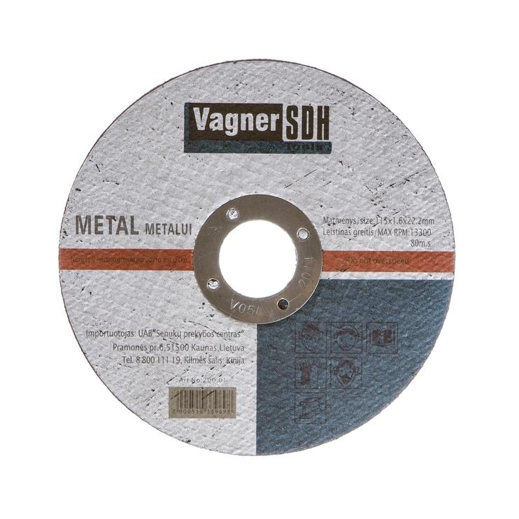 Disks tērauda griešanai Vagner SDH 115x1,6x22,23mm