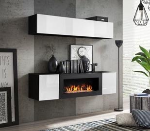 Dzīvojamās istabas mēbeļu komplekts ASM Fly N1 White/Black