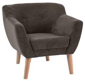 Atzveltnes krēsls Signal Meble Bergen 1 Dark Brown, 78x54x76 cm