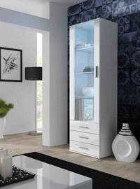 Шкаф-витрина Cama Meble Soho S1, белый, 60x41x192 см