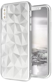 Blun 3D Prism Shape Back Case For Samsung Galaxy S9 White