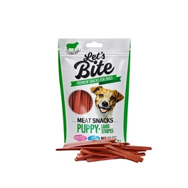 Brit Care Let's Bite Meat Snacks Puppy Lamb Stripes 80g