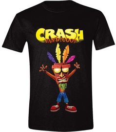 Licenced Crash Bandicoot Aku Aku T-Shirt Black L