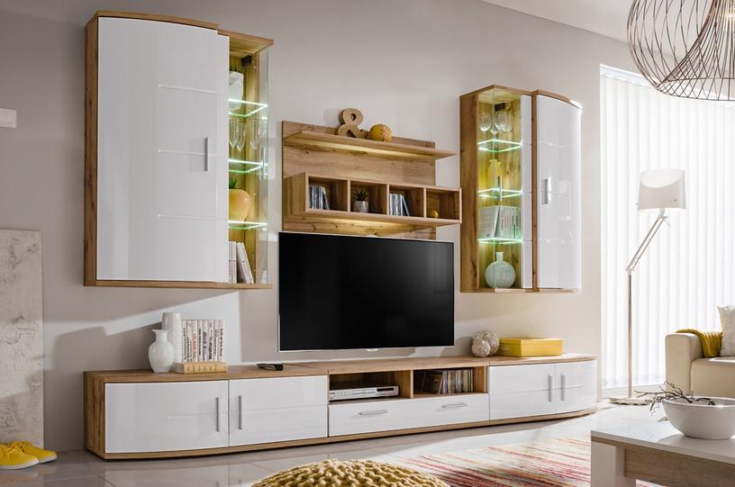 ASM Jelly Living Room Wall Unit Set Wotan Oak/White