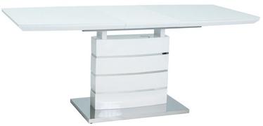 Обеденный стол Signal Meble Leonardo White, 1400x1400x800 мм