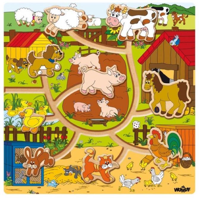 Woodyland Moving Farm Animals Maze 93030