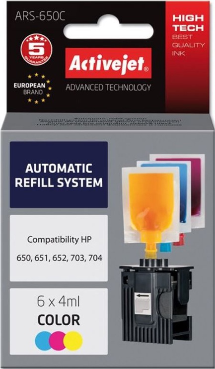ActiveJet Cartridge ARS-650Col For HP 4ml x6 CMY