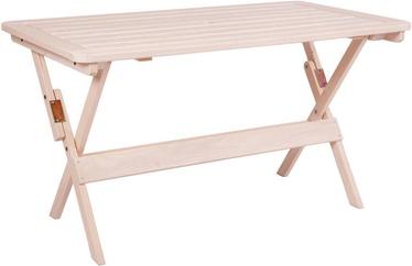 Садовый стол Folkland Timber Heini-4 069, белый, 130 x 70 x 73 см