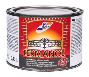 Speciāla krāsa Rilak Termanol Heat Resistant Steel Paint Black 0.45l