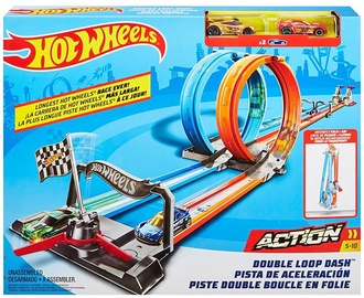 Trase Mattel Hot Wheels Double Loop Dash Track GFH85