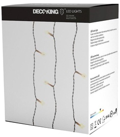 Elektriskā virtene DecoKing LED Light Curtains, silti balta, 3x3 m