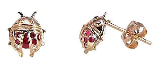 Diamond Sky Gold Earrings Ladybug I