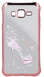 Beeyo Girly Back Case For Samsung Galaxy A5 A510 Transparent/Pink