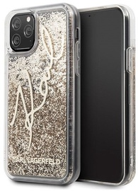 Karl Lagerfeld Glitter Signature Back Case For Apple iPhone 11 Pro Gold