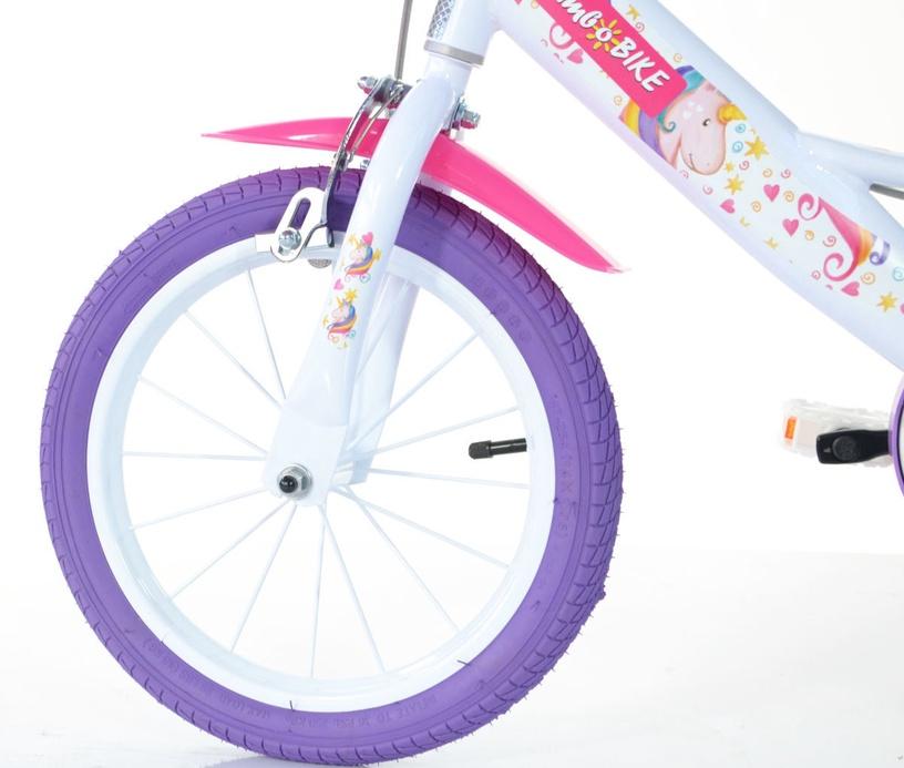 "Bērnu velosipēds Bimbo Bike 77326 14"" White Violet"